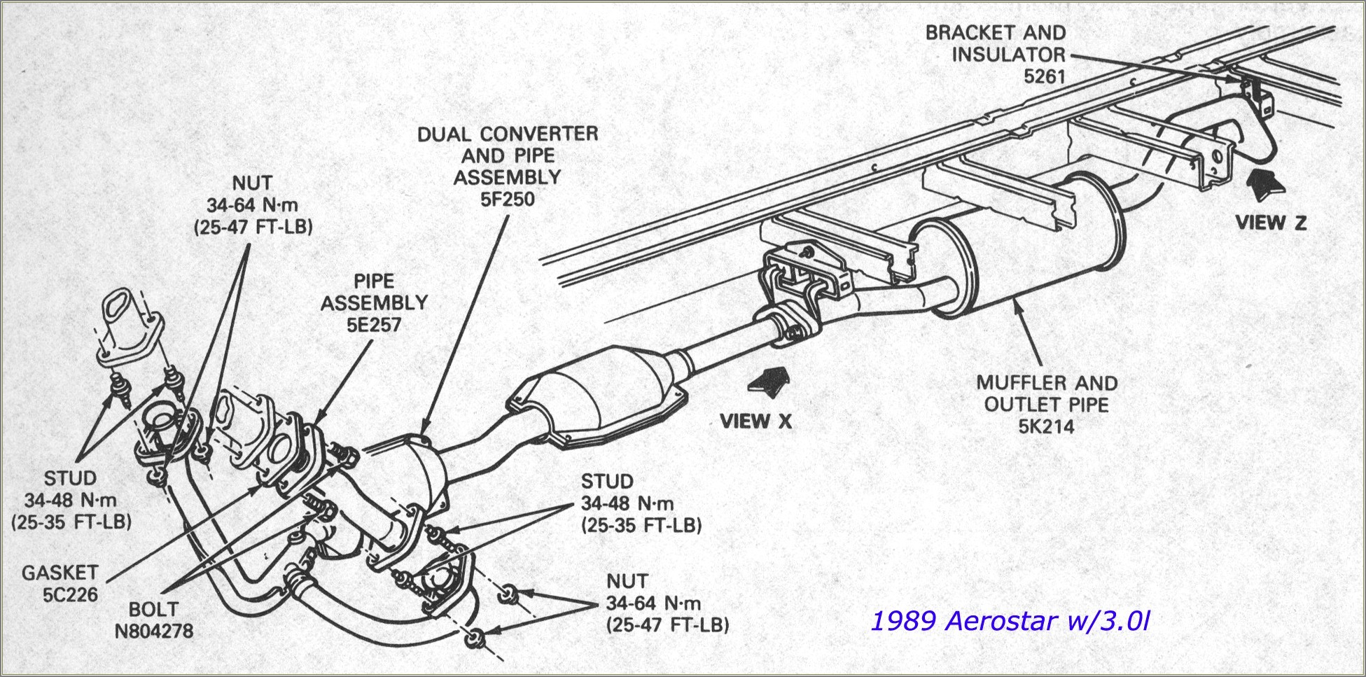 2002 Ford F150 Exhaust Diagram