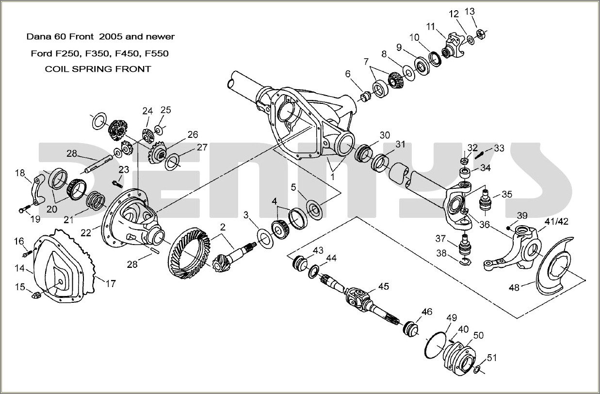 2005 Ford F250 Front Axle Diagram