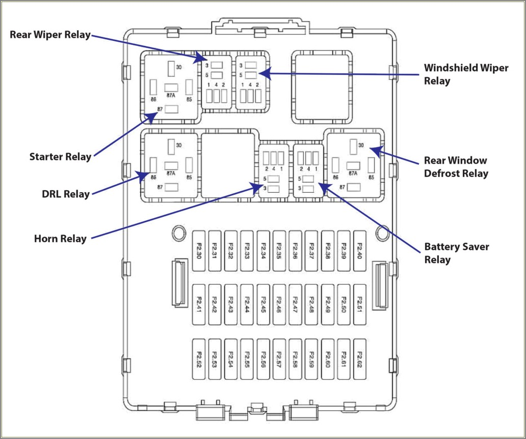 2006 Ford Focus Fuse Box Diagram