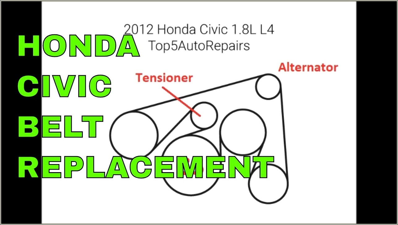 2013 Honda Civic Serpentine Belt Diagram