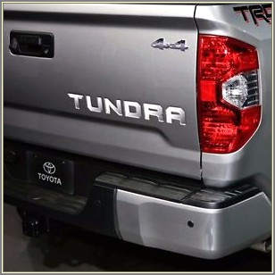 2017 Toyota Tundra Tailgate Letters