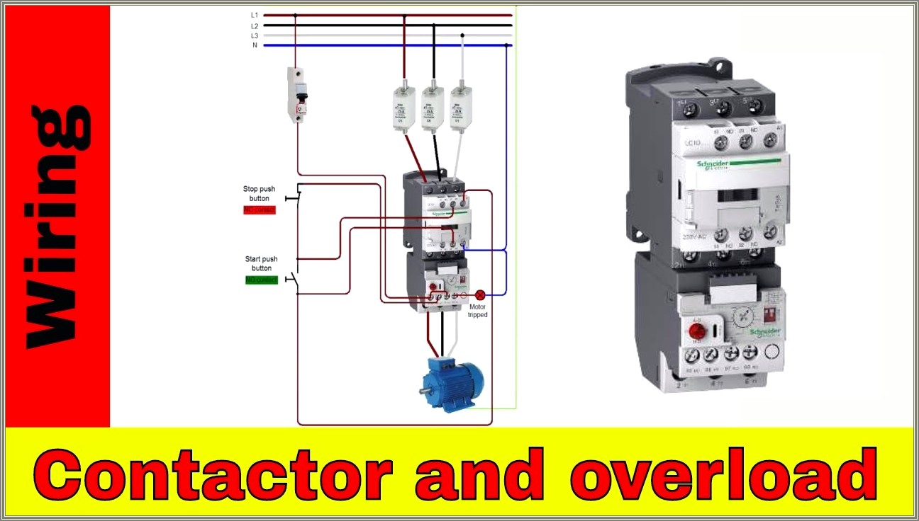 3 Phase Contactor With Overload Wiring Diagram