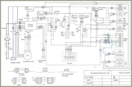 36v Electric Scooter Controller Wiring Diagram