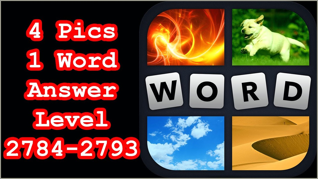 4 Pics 1 Word 4 Letters