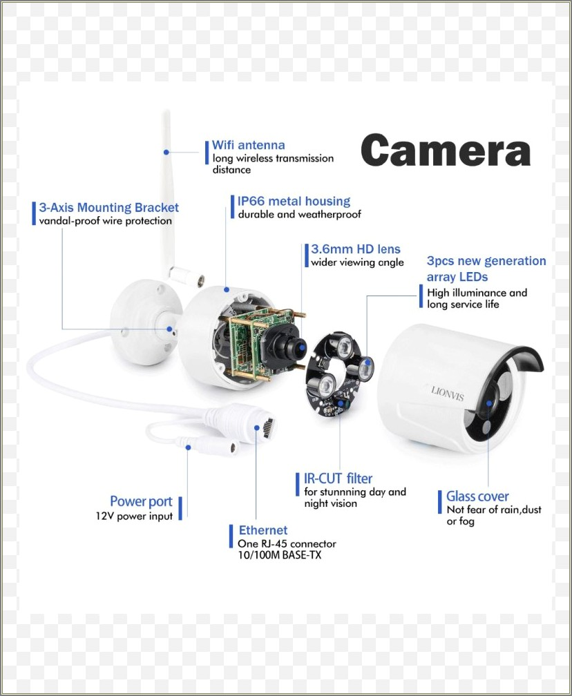 4 Wire Security Camera Wire Color Diagram