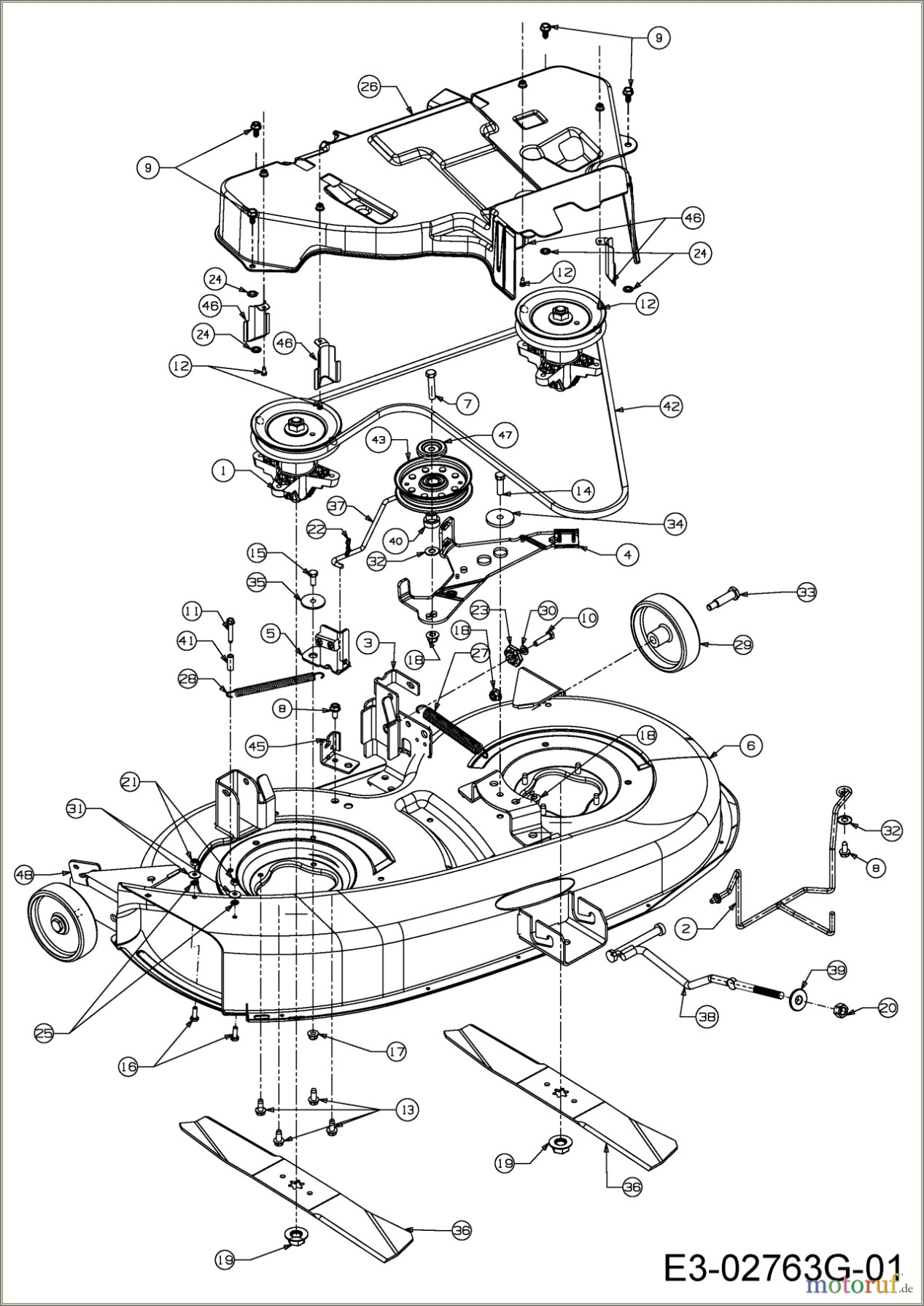 42 Mtd Mower Deck Belt Diagram