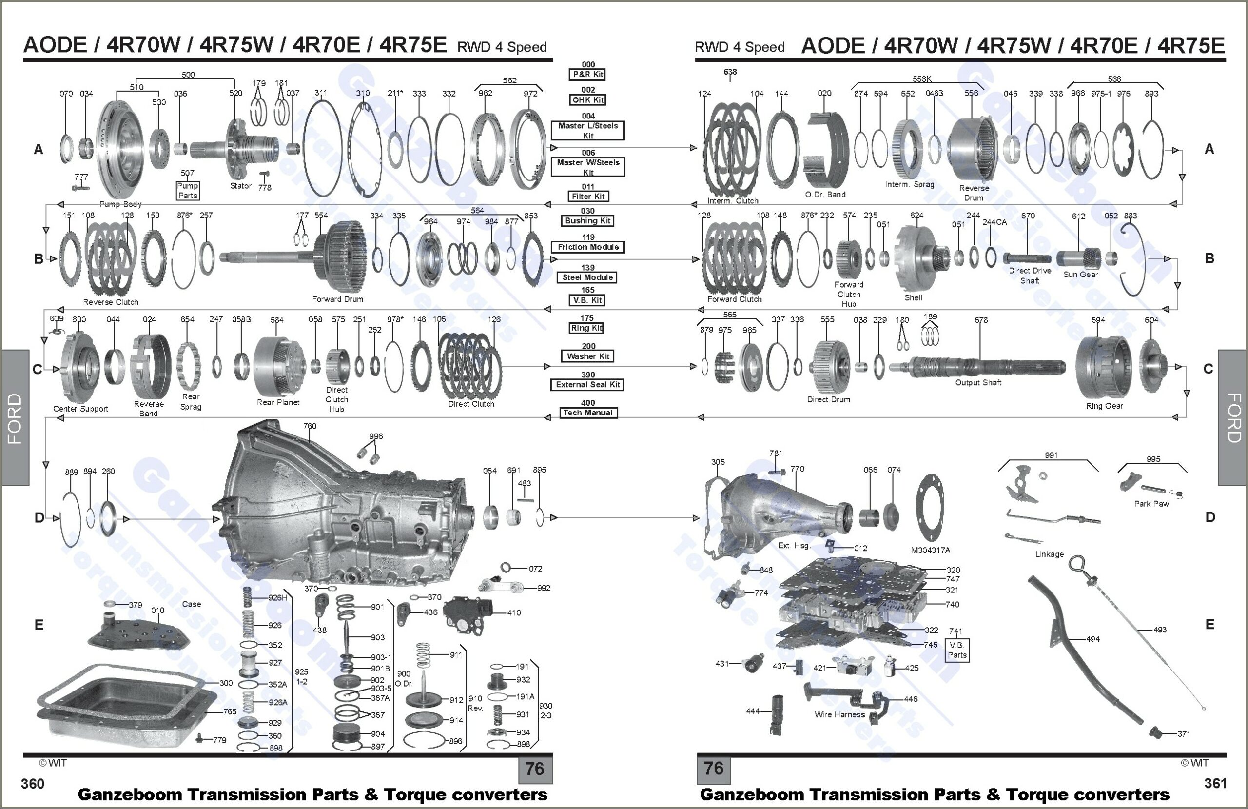 4r70w Transmission Rebuild Diagram
