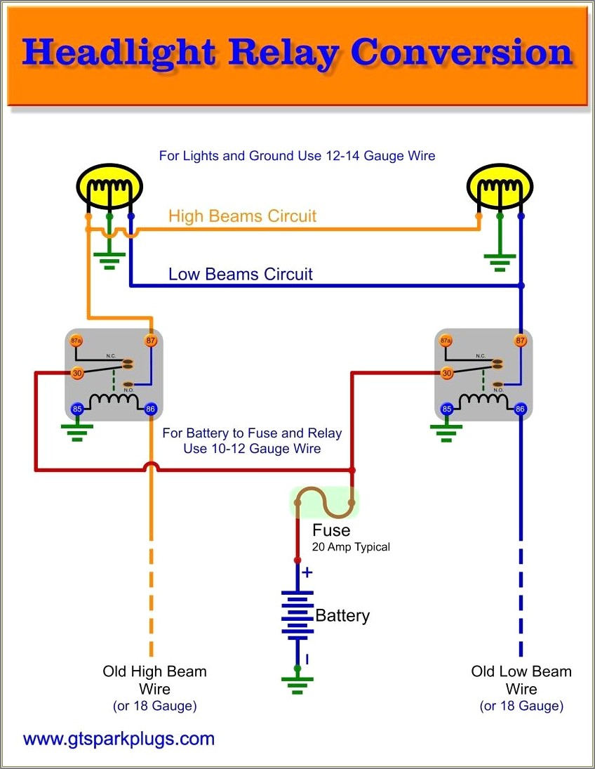 5 Pin Relay Diagram Lights