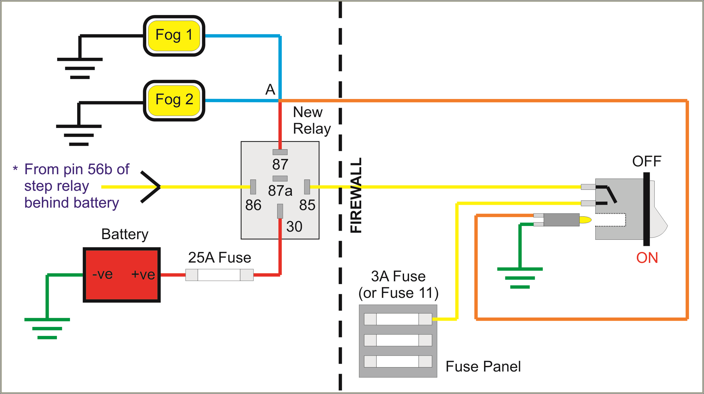 5 Pin Relay Wiring Diagram 87a