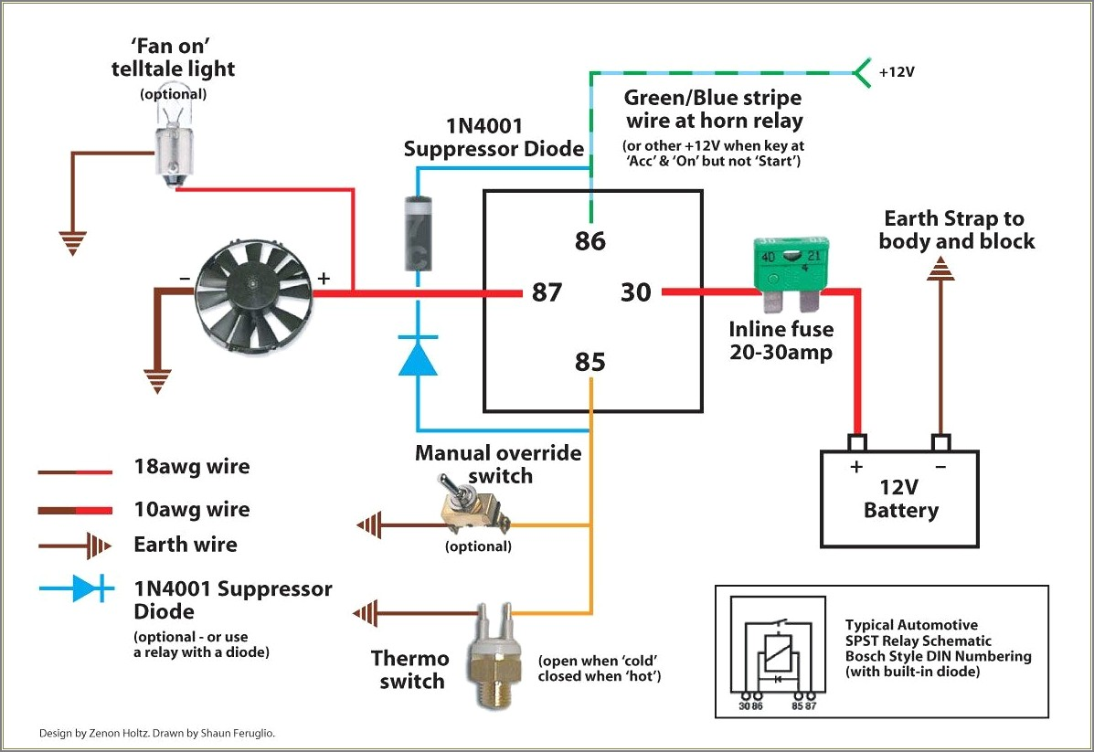 5 Pin Relay Wiring Diagram Fan