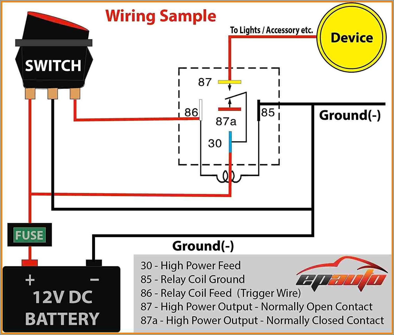 5 Pin Relay Wiring Diagram Fog Lights