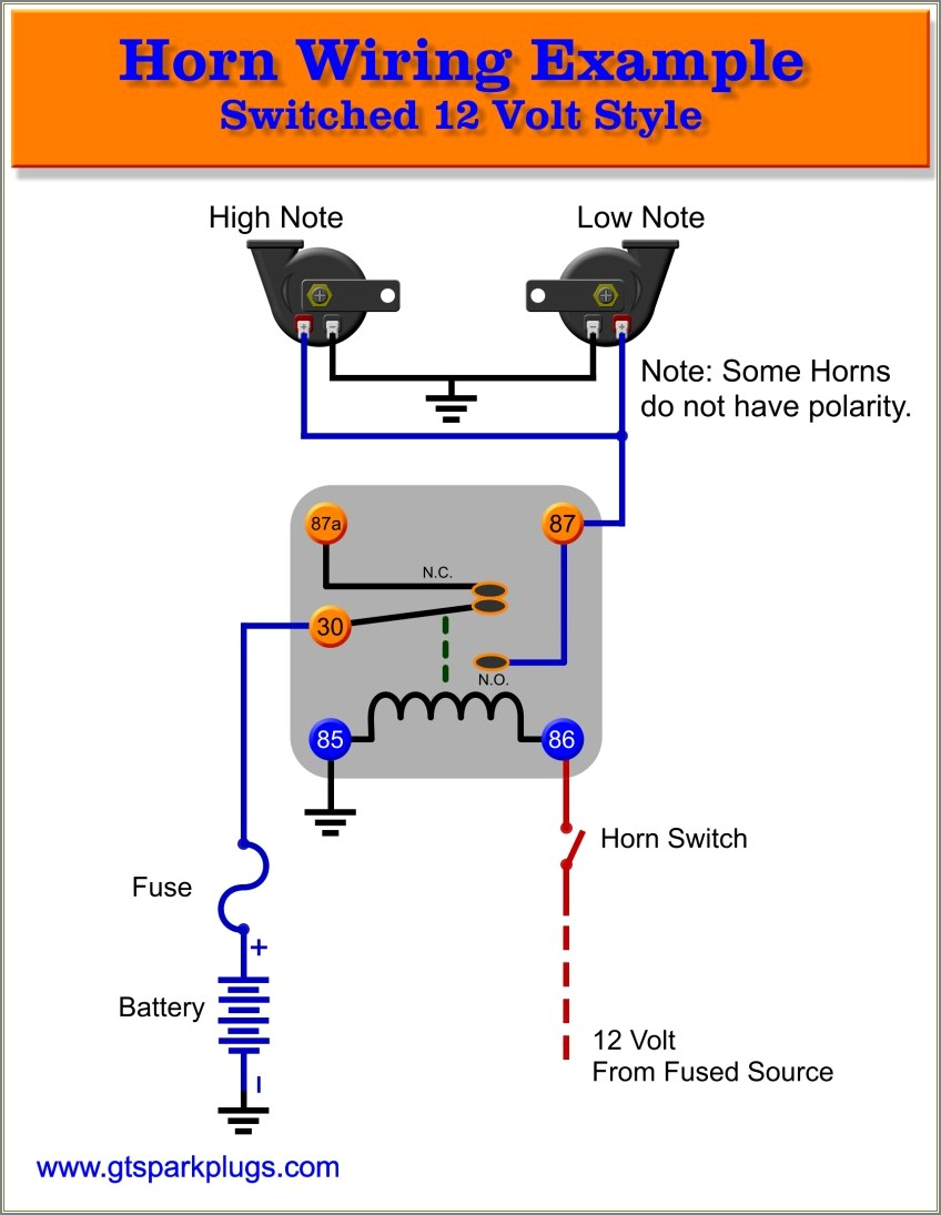 5 Pin Relay Wiring Diagram Horn