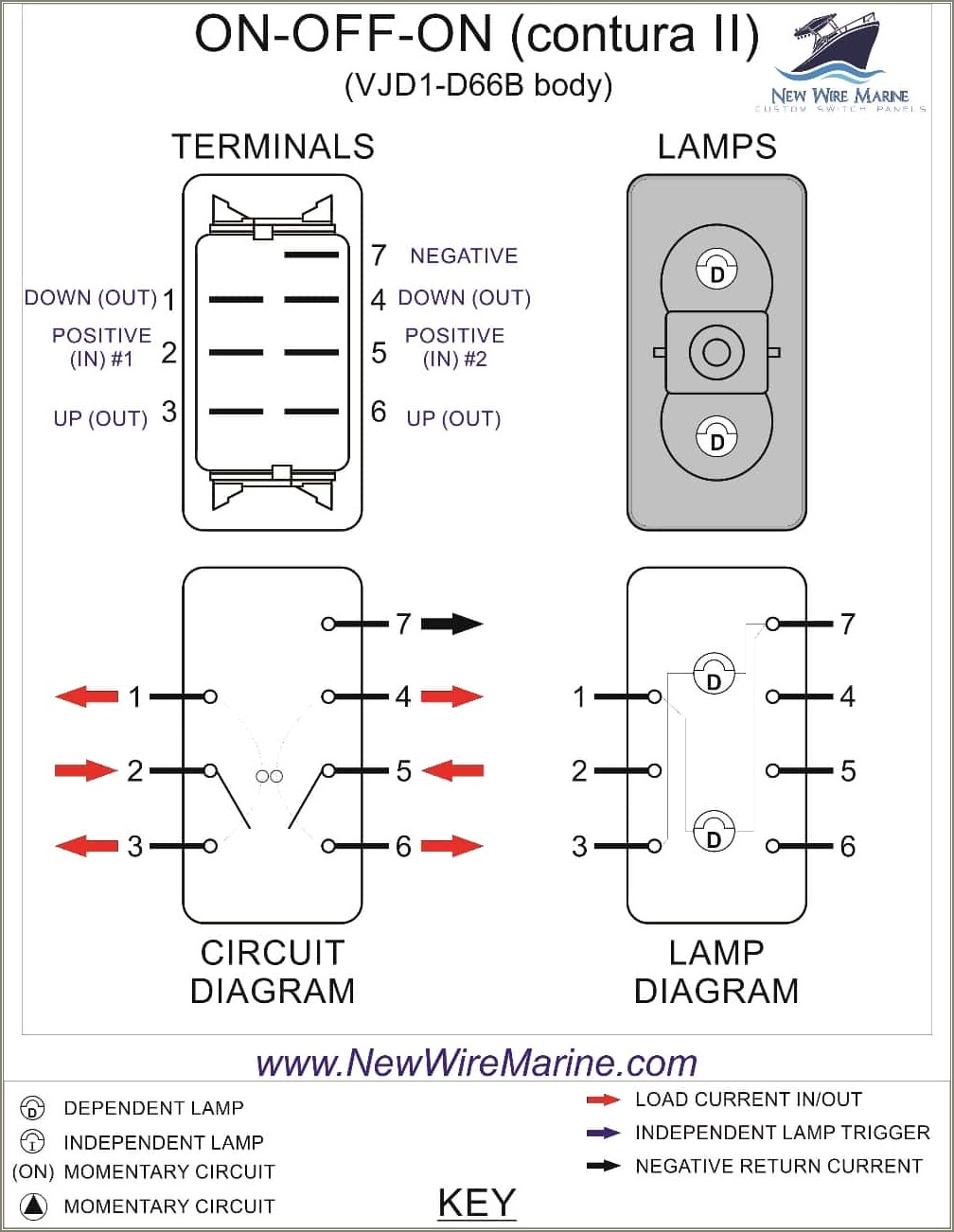 6 Pin Onoff Switch Wiring Diagram