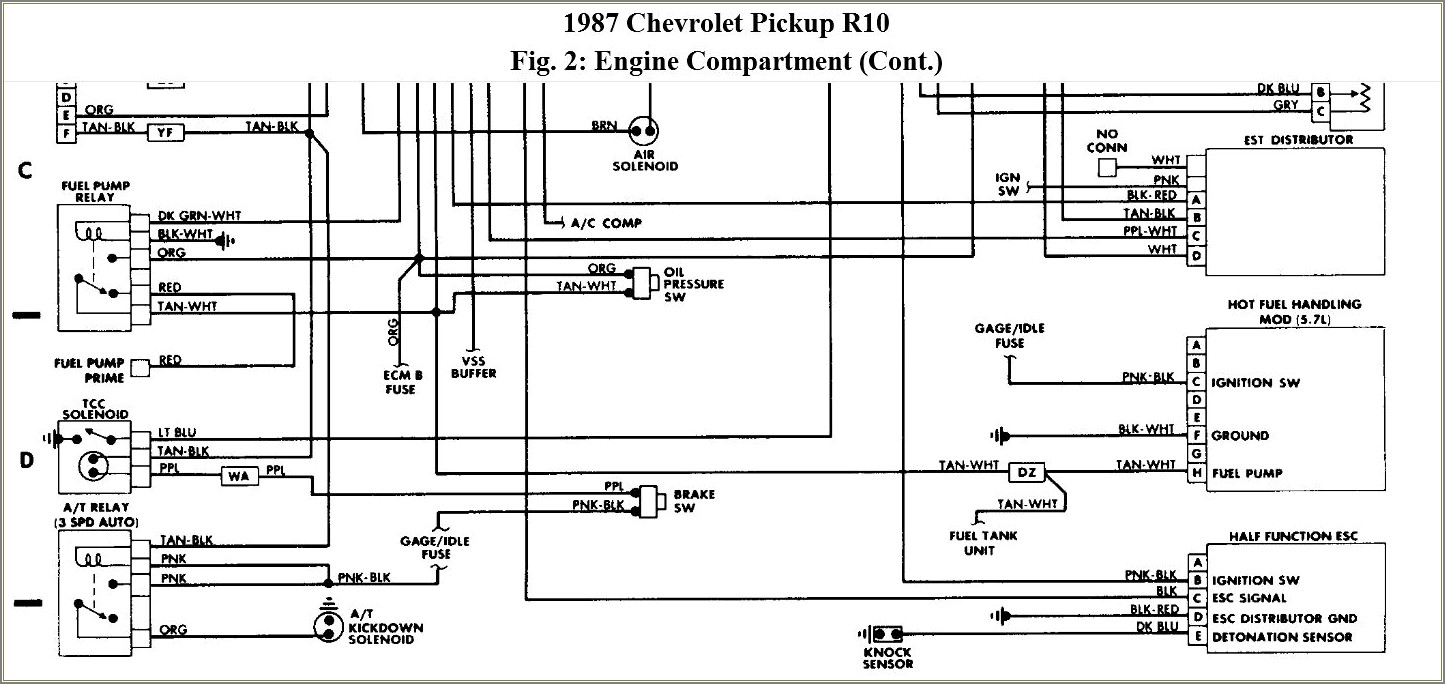87 Chevy Truck Fuel Pump Wiring Diagram