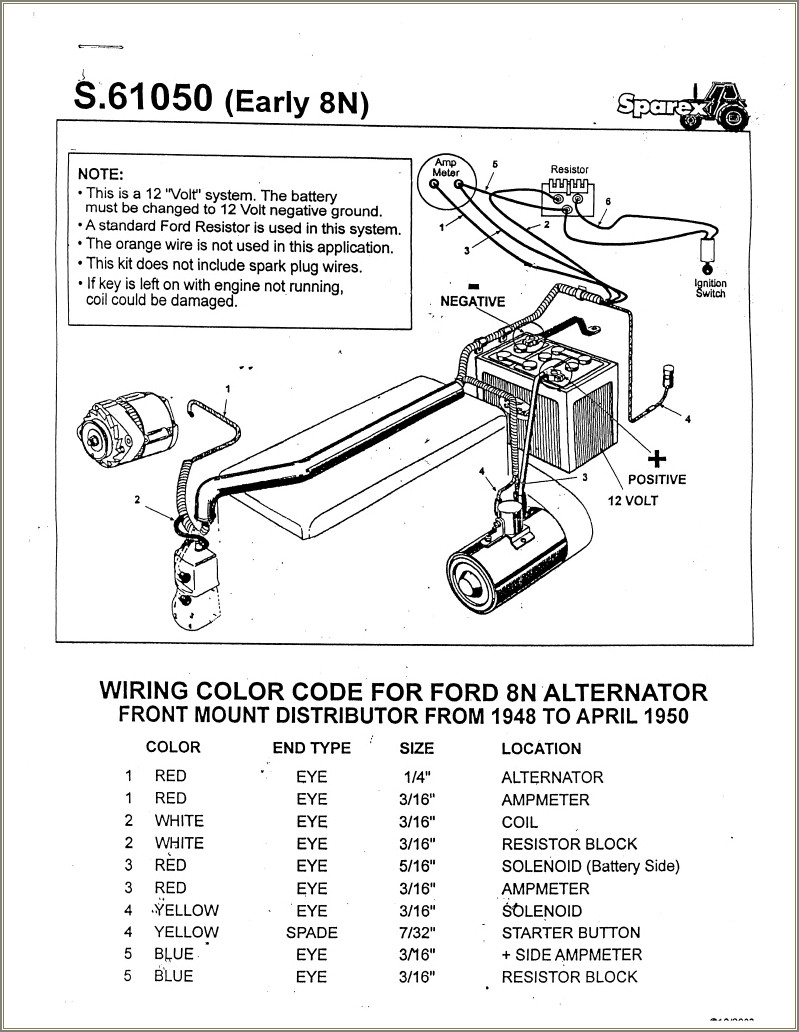 8n Ford Tractor Wiring Diagram 12 Volt
