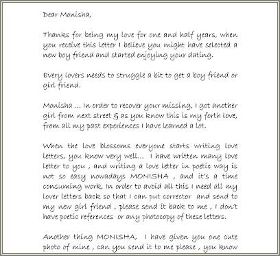 Accountability Letter To Ex Girlfriend