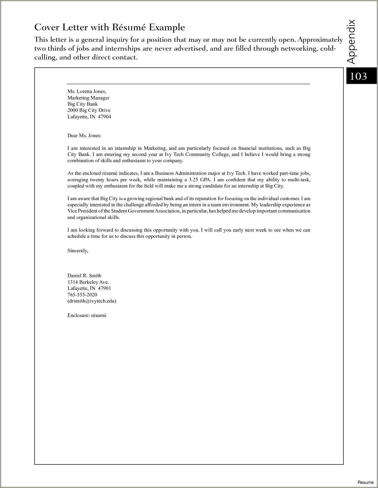 Adjunct Professor Cover Letter No Experience