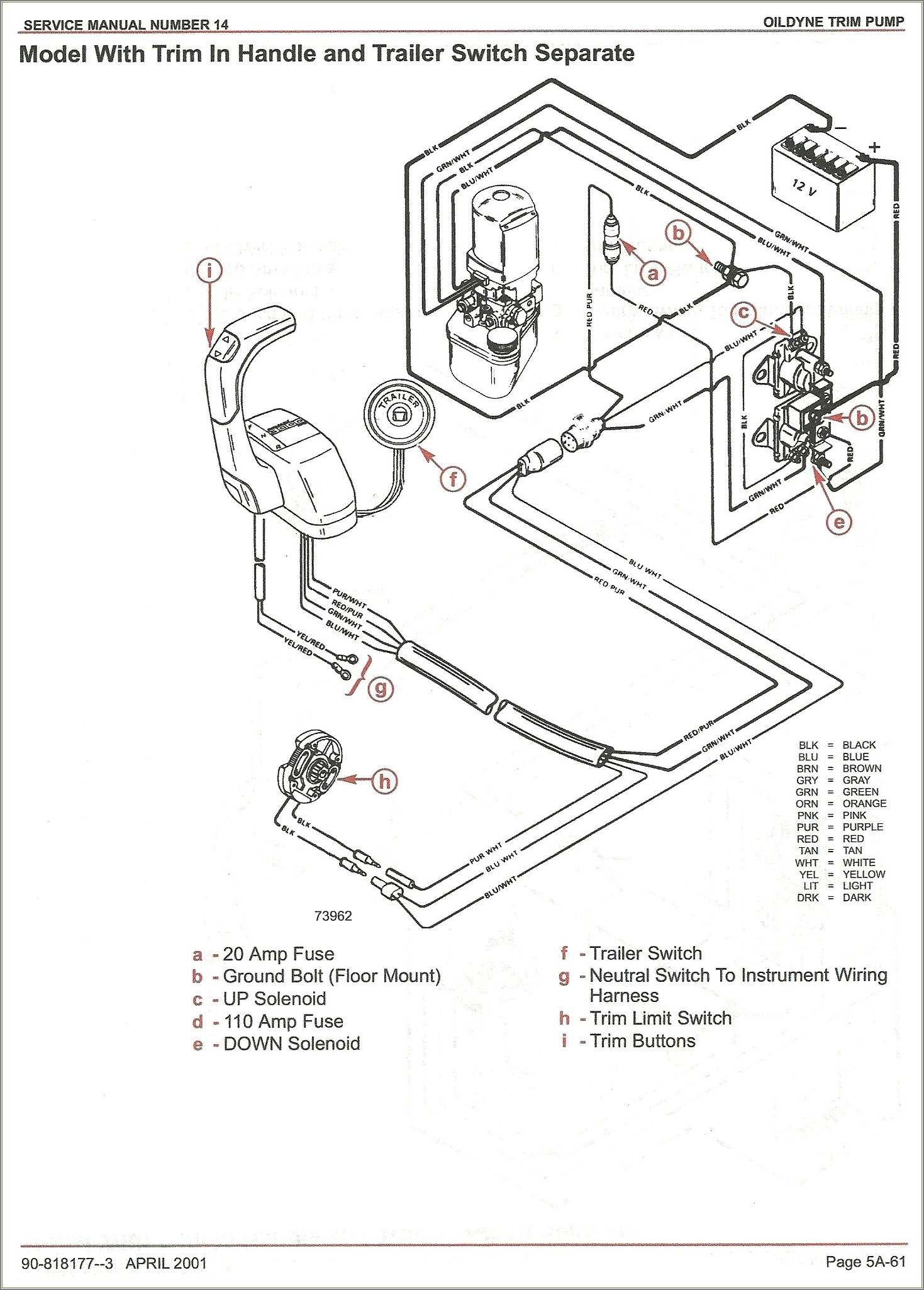 Alpha One Tilt Trim Wiring Diagram