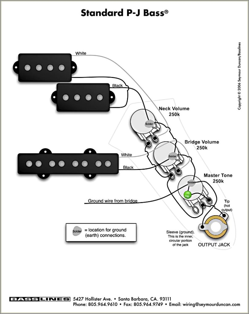 Bass Guitar Wiring Diagrams 2 Pickups