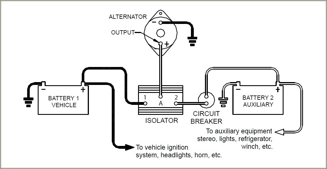 Battery Isolator Schematic Diagram