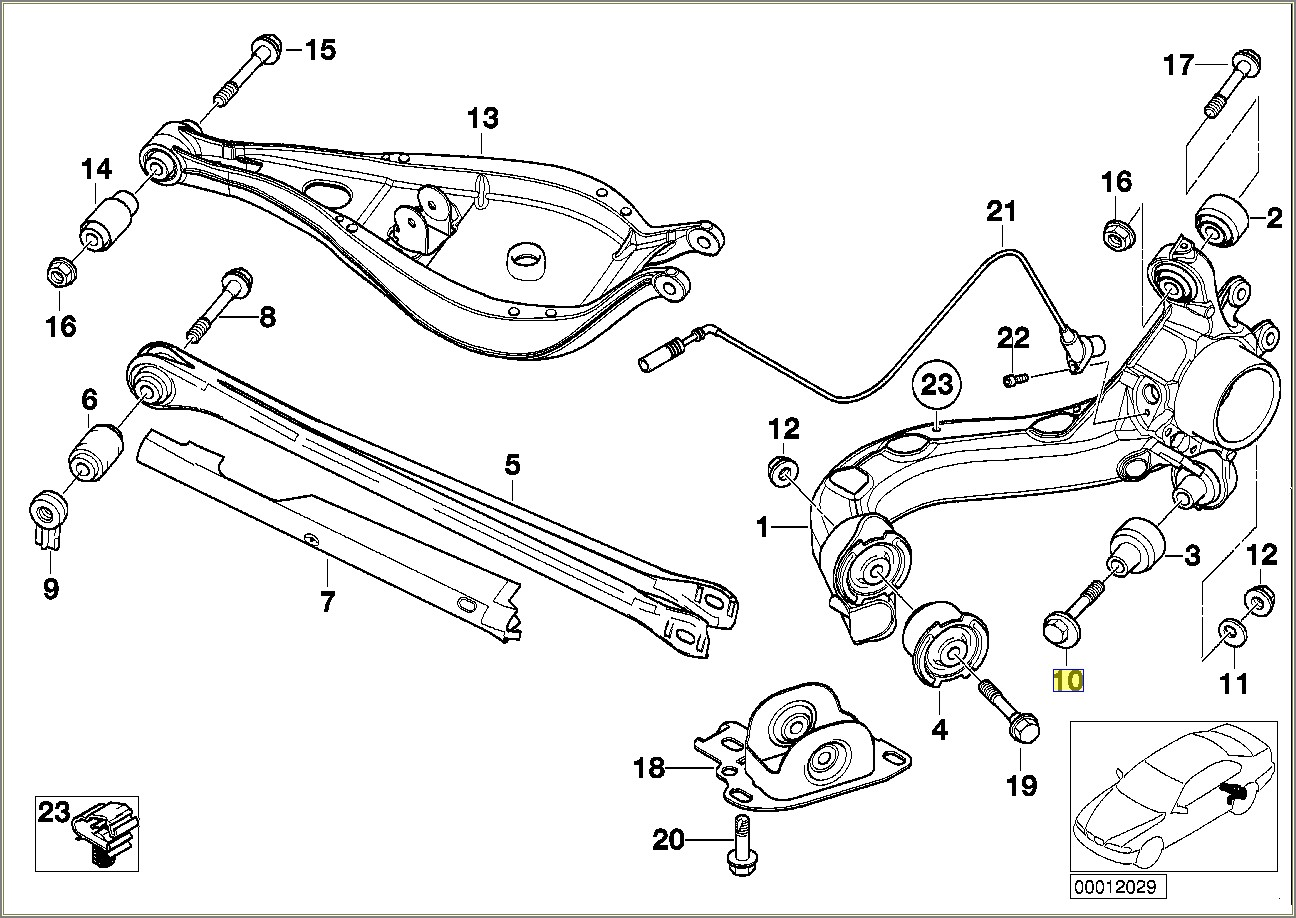 Bmw E46 Rear Suspension Diagram