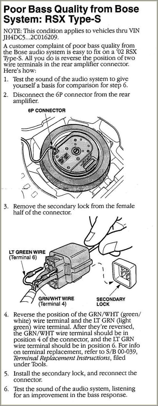 Bose Spare Tire Subwoofer Wiring Diagram