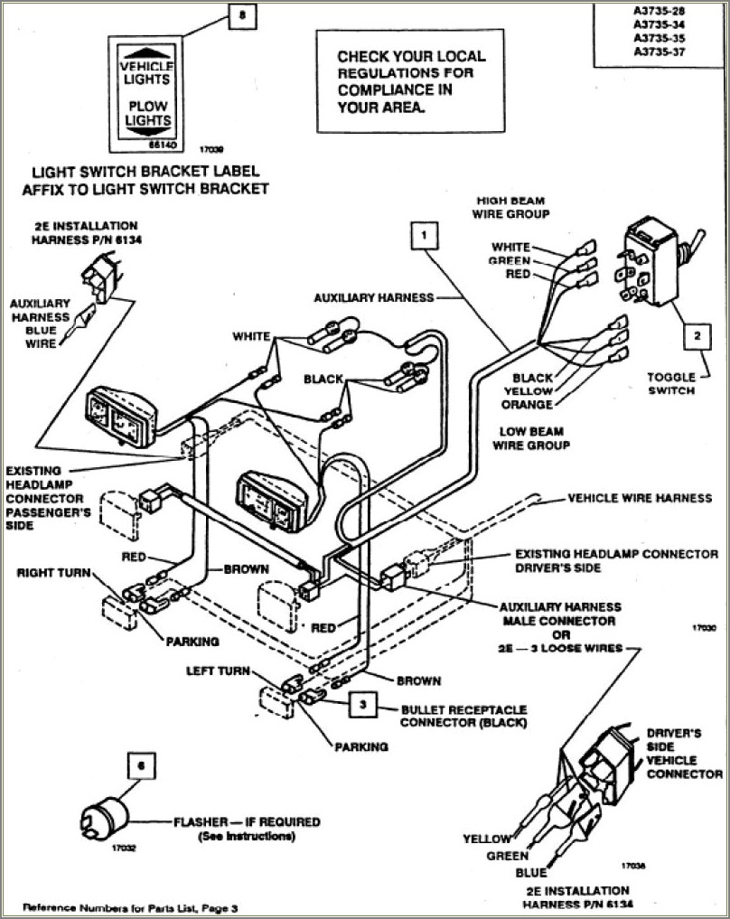 Boss Snow Plow Wiring Diagram Truck Side