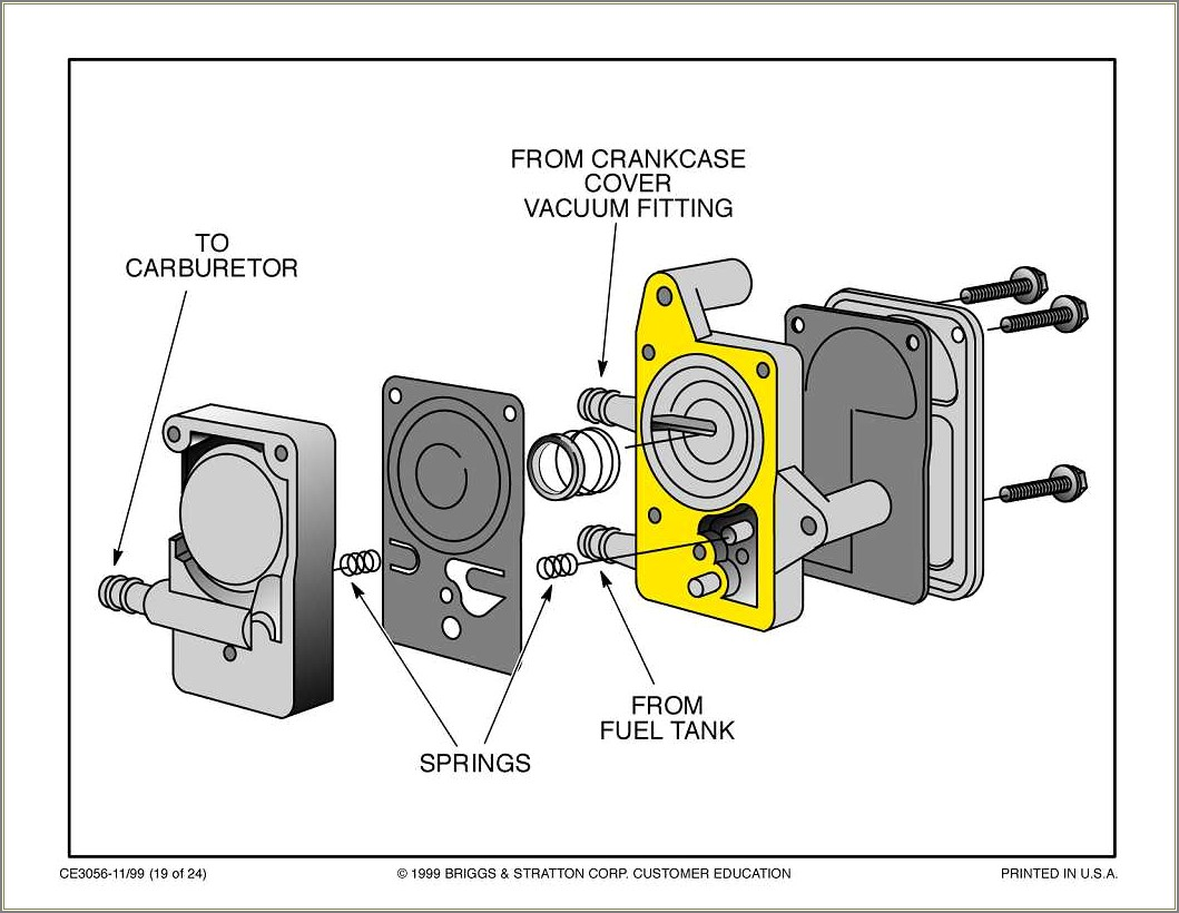 Briggs And Stratton Fuel Pump Hose Diagram