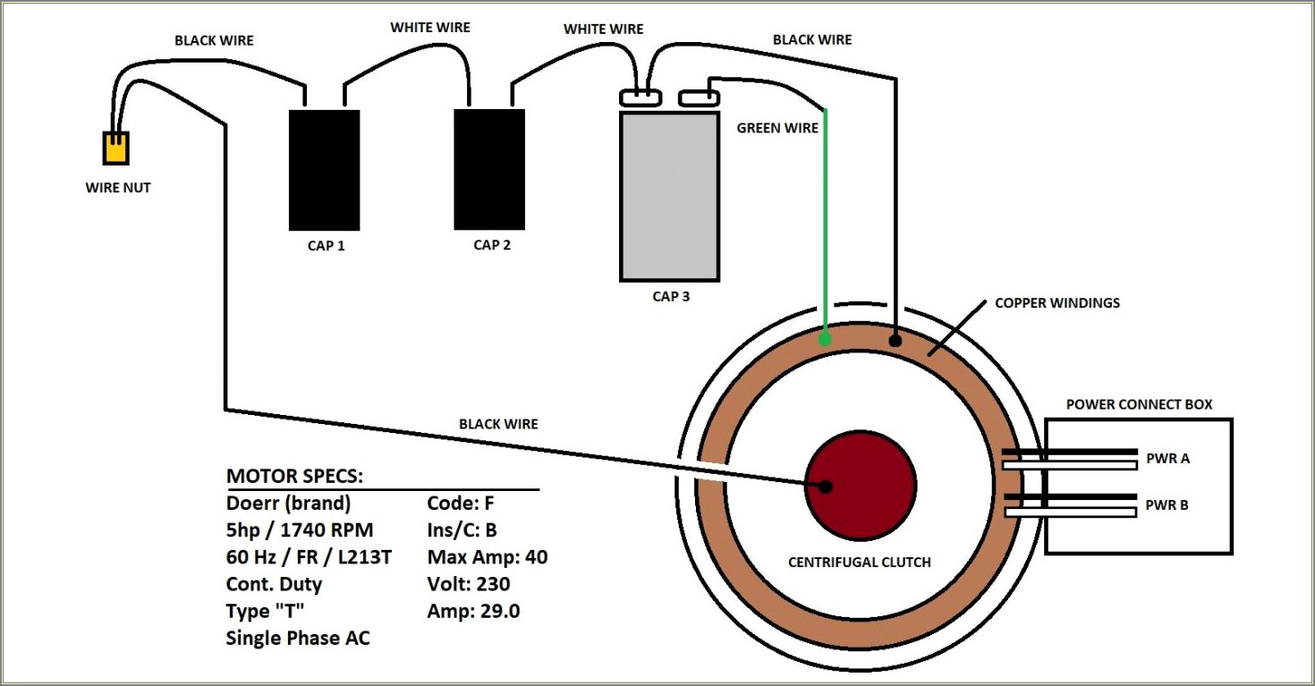 Capacitor Wiring Diagram For Electric Motor