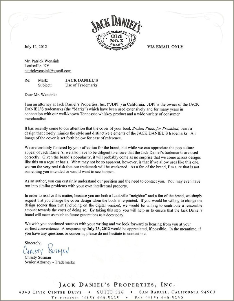 Cease And Desist Letter Harassment California
