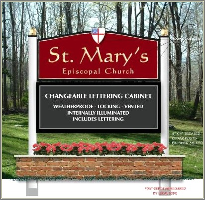 Changeable Letter Church Signs