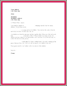 Character Reference Letter For Child Custody Examples