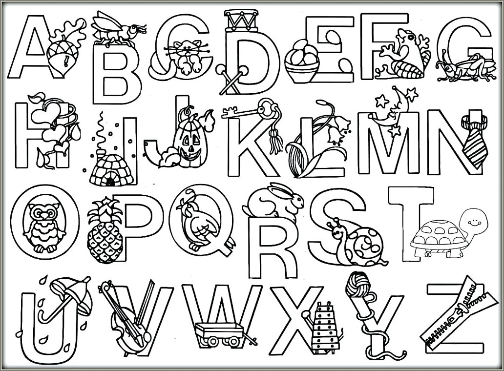 Coloring Book Alphabet Letters Pdf