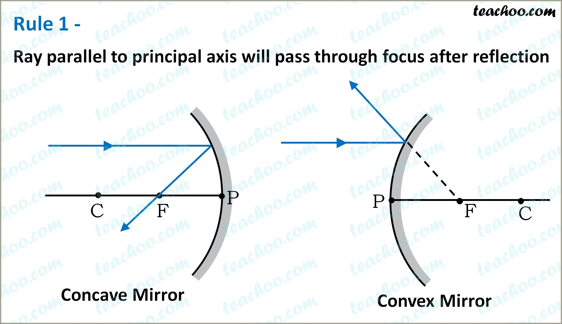 Convex Mirror Ray Diagram Class 10