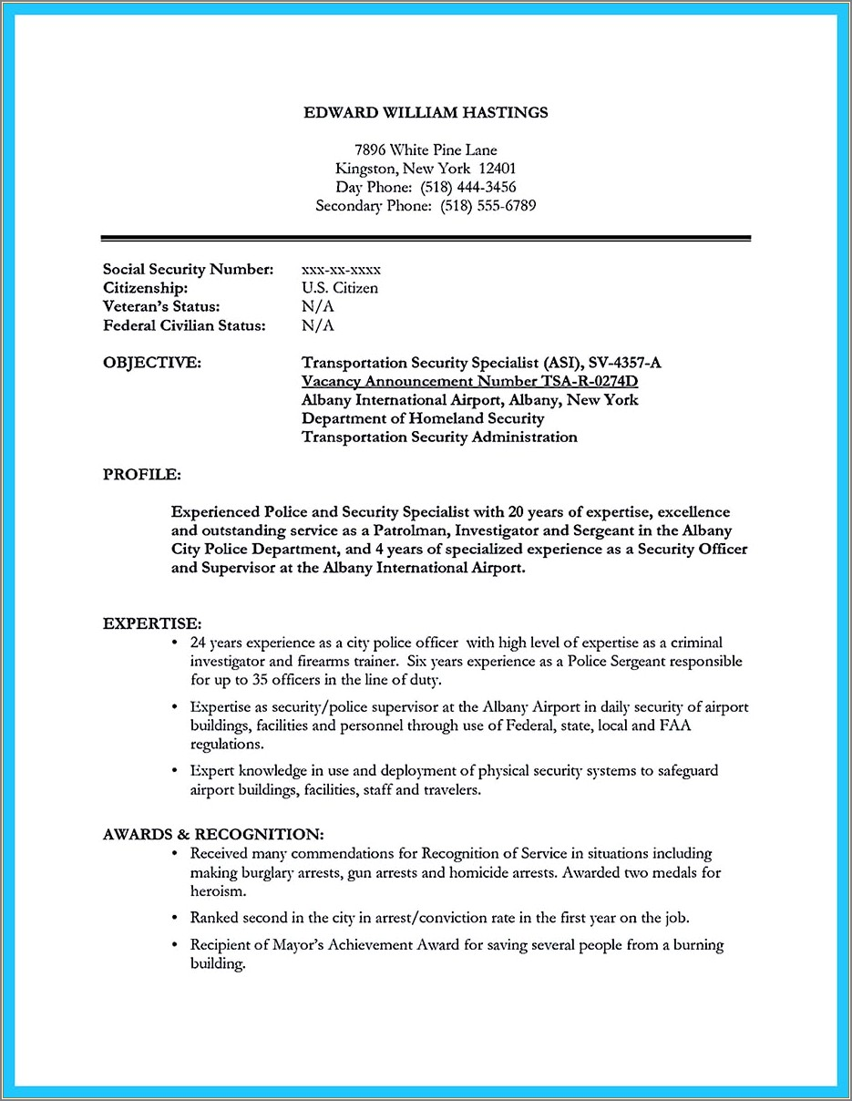 Correctional Officer Cover Letter Samples No Experience