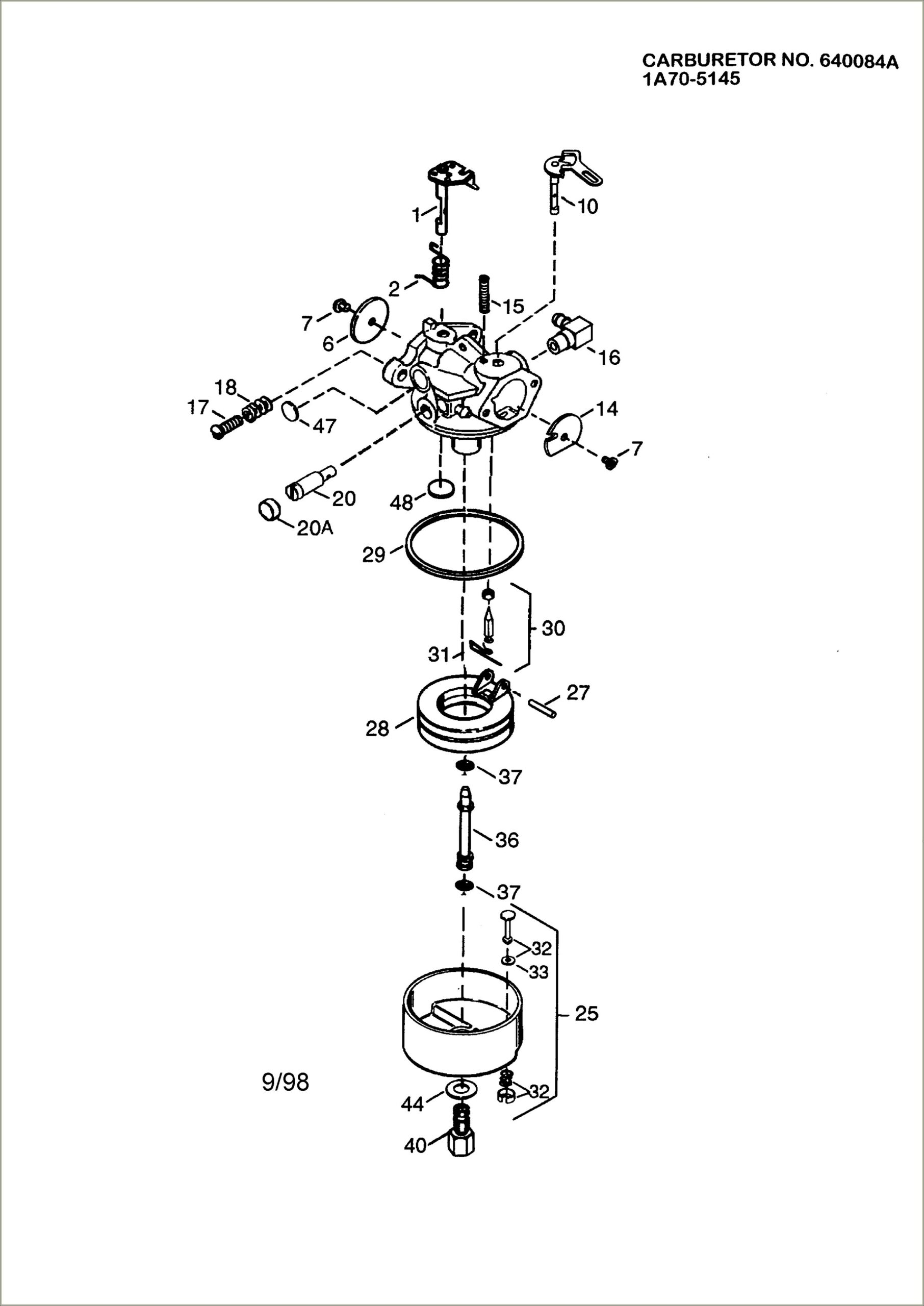 Craftsman Snowblower Carburetor Diagram