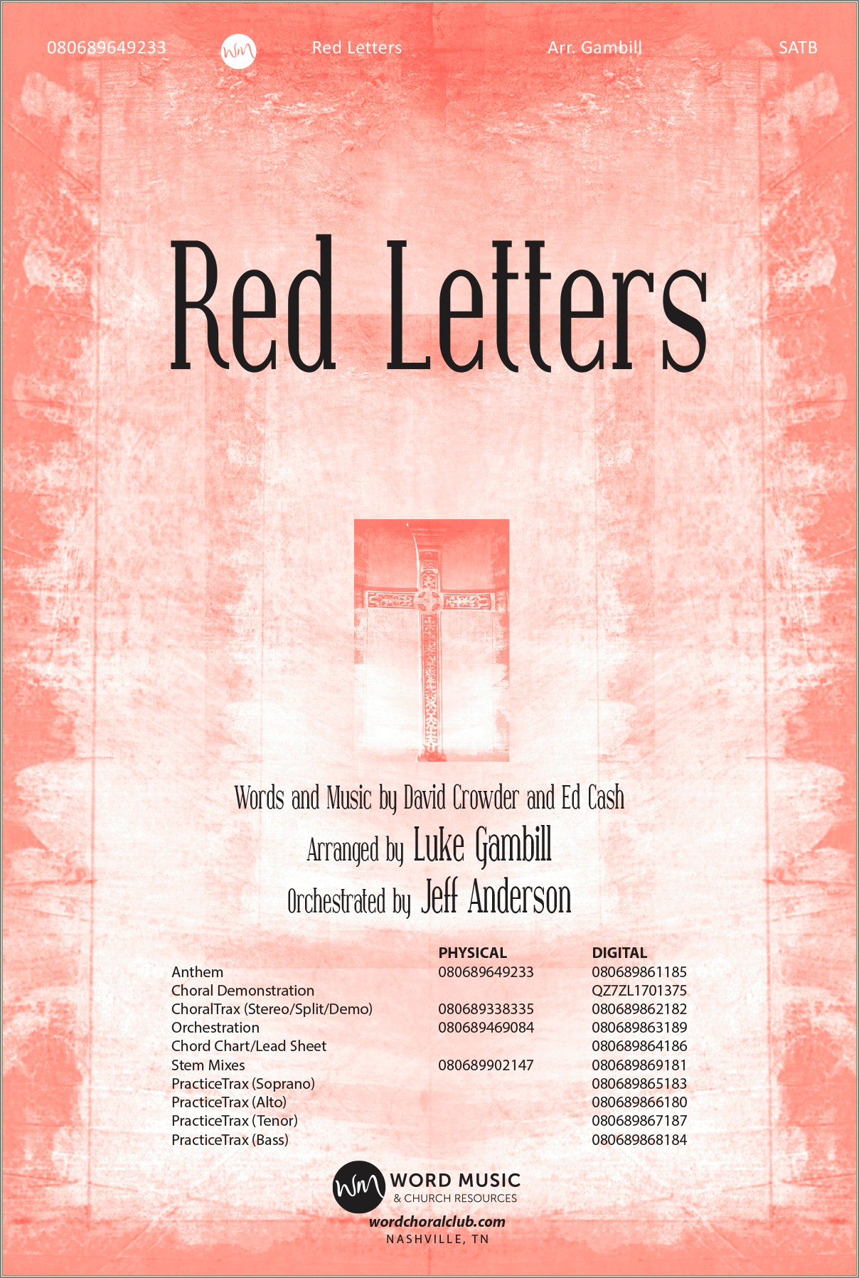 Crowder Red Letters Chords