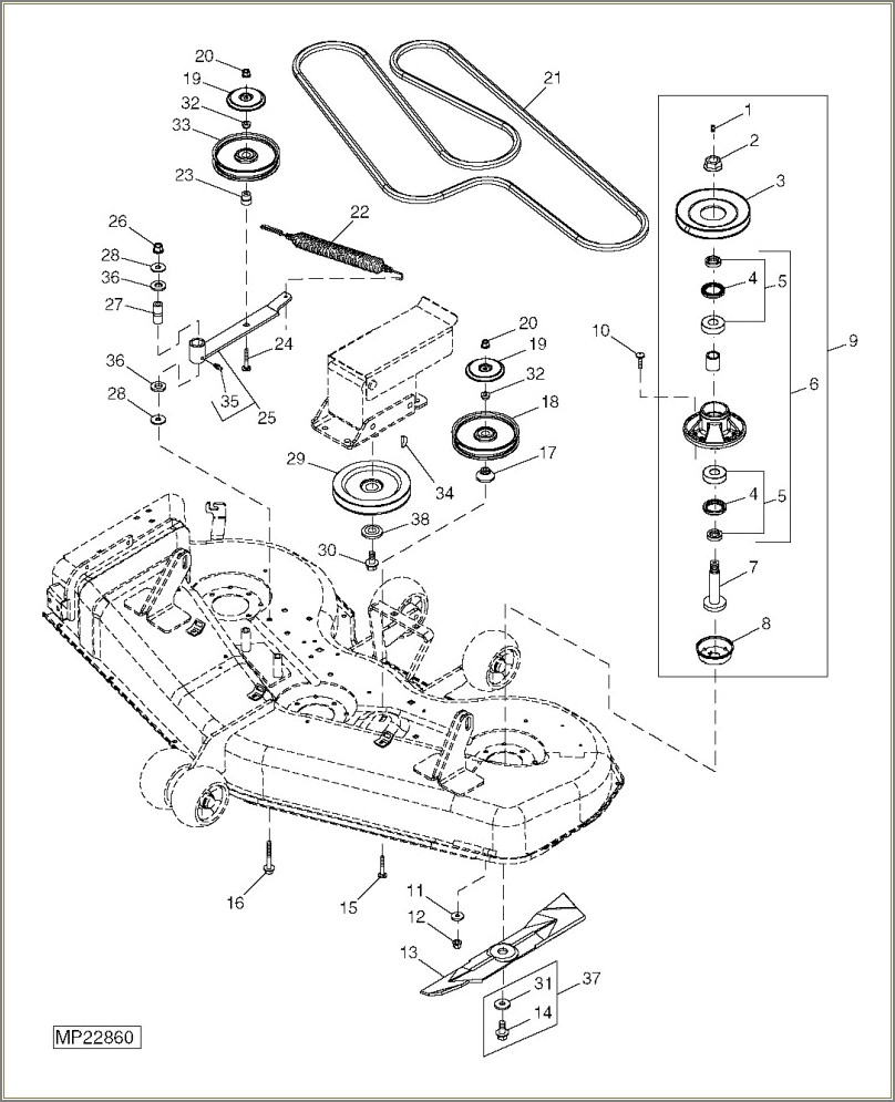 Cub Cadet Deck Belt Diagram