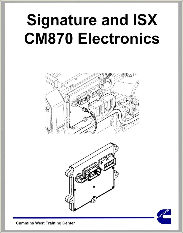 Cummins Isx Cm870 Ecm Wiring Diagram