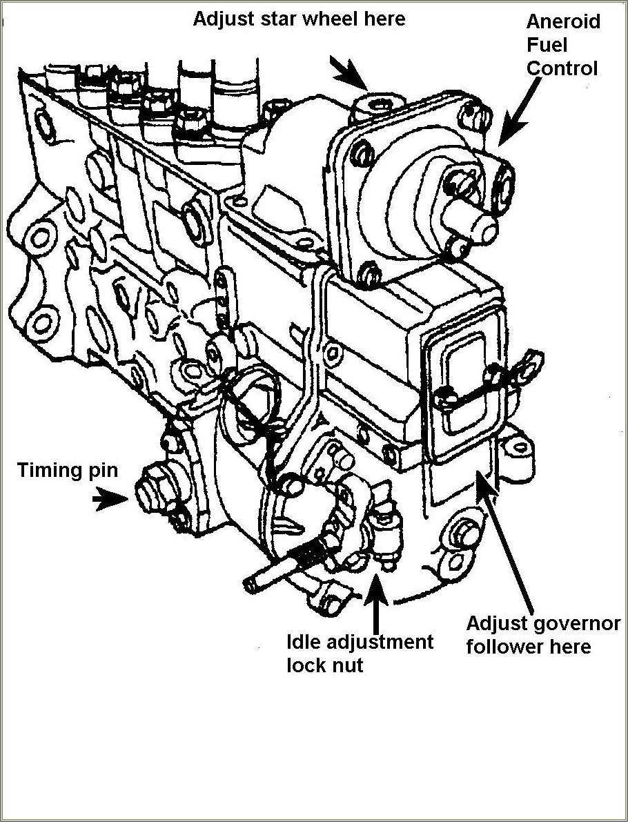 Cummins Ve Injection Pump Diagram