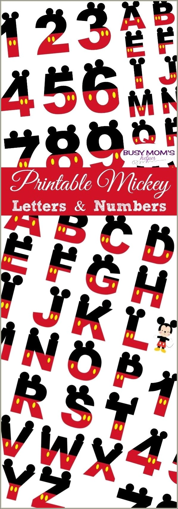 Cut Out Mickey Mouse Letters Printable