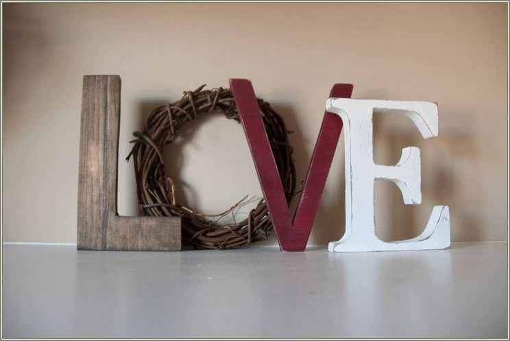 Decorative Letters For Mantle