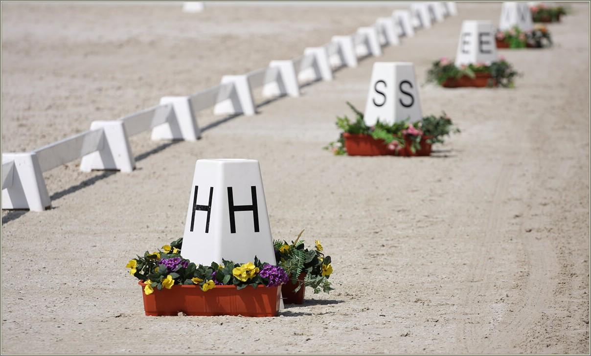 Dressage Arena Letters Layout