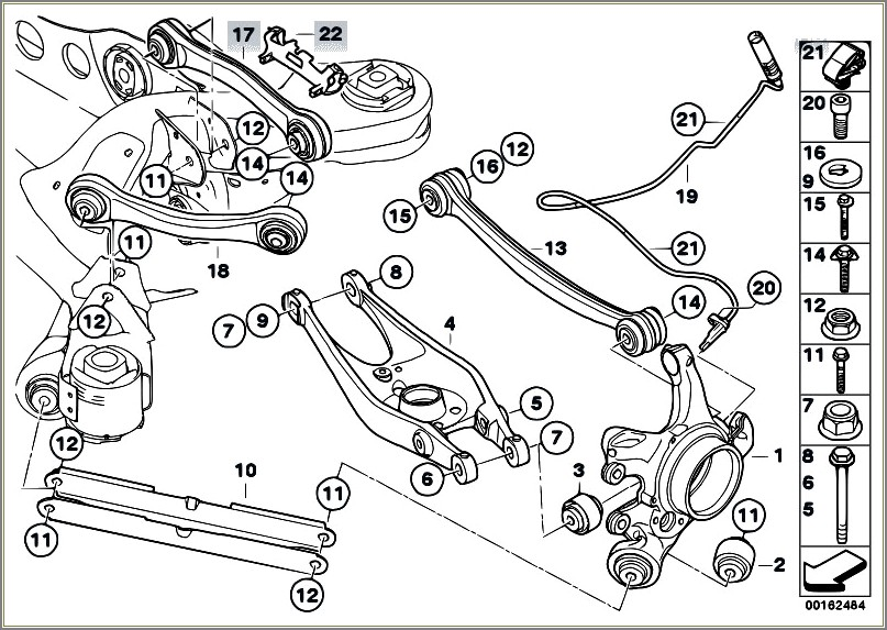 E90 Rear Suspension Diagram