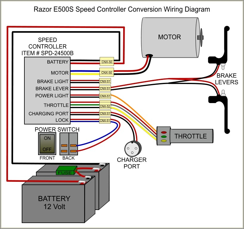 Electric Scooter Controller Wiring Diagram