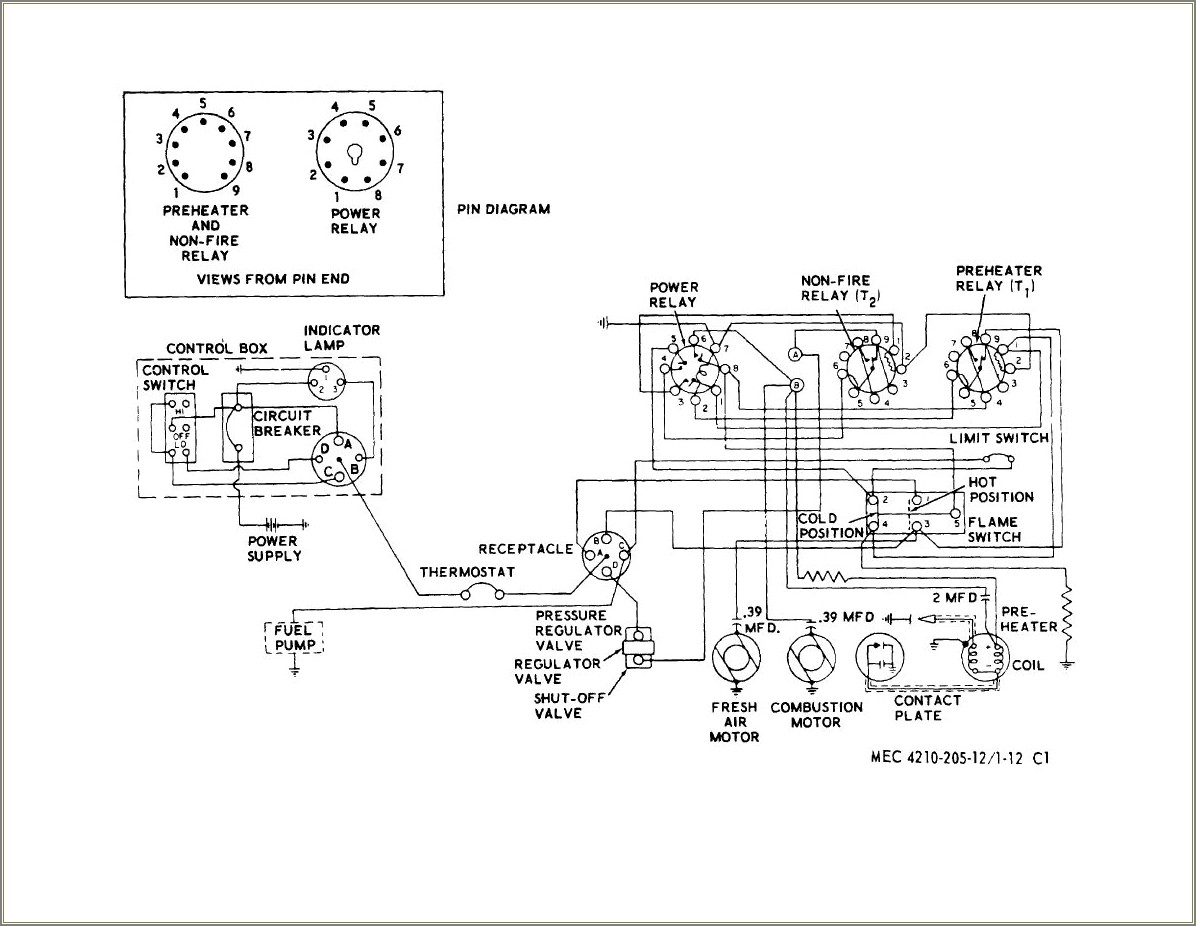 Electric Space Heater Wiring Diagram