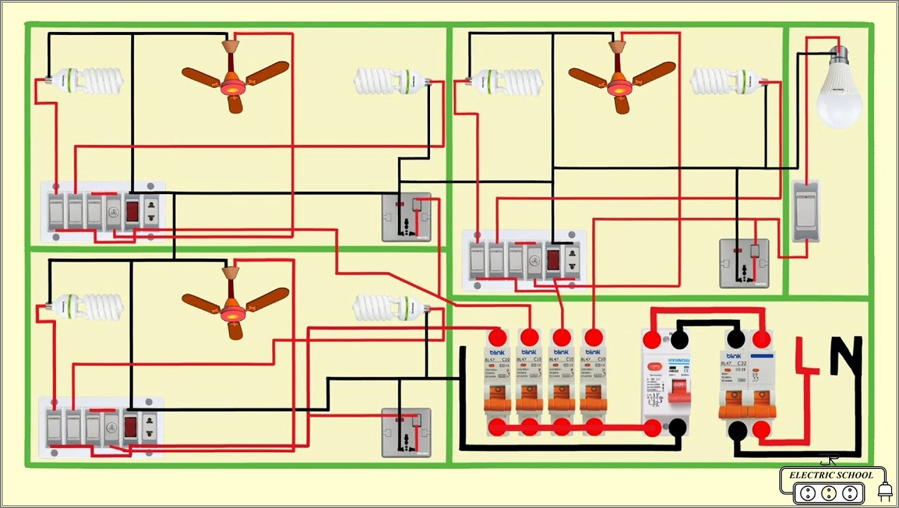 Electrical House Wiring Diagram Symbols