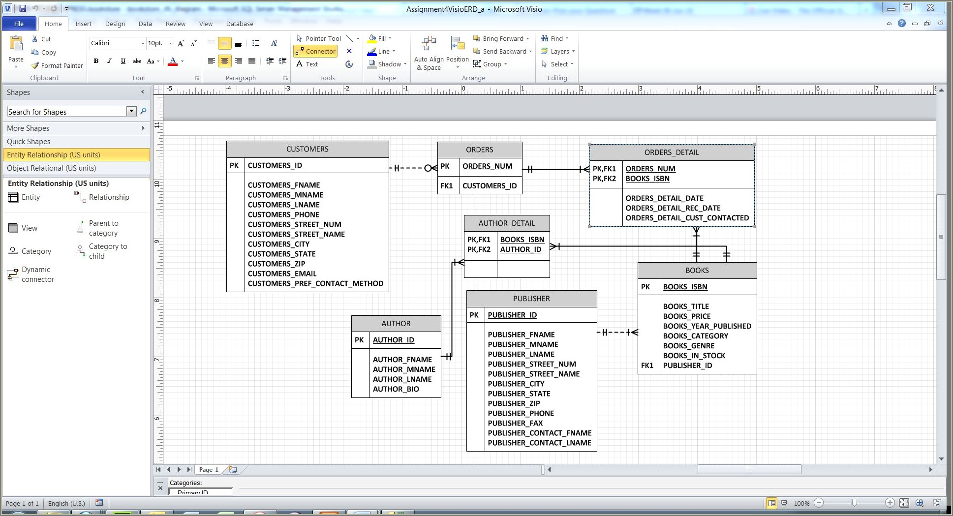 Er Diagram Using Visio