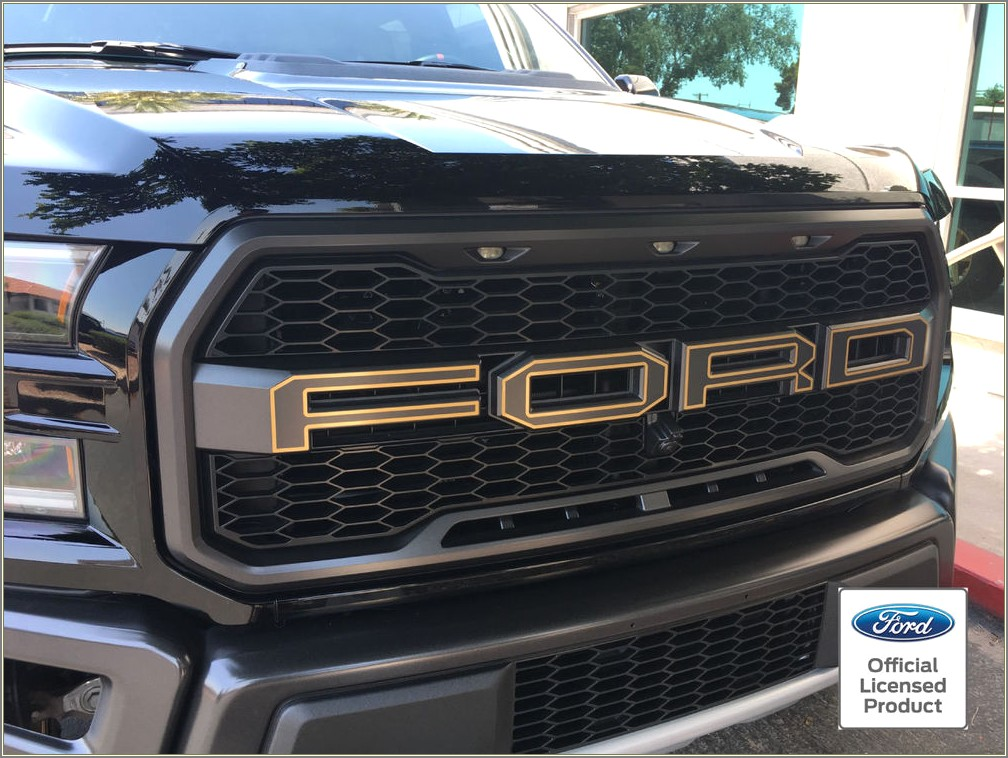 Ford Raptor Front Grill Letters