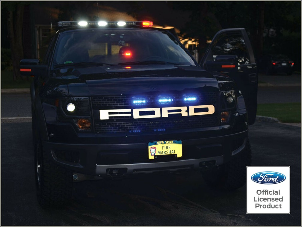 Ford Raptor Grill Letters American Flag
